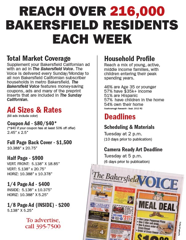 Advertise with us for Bakersfield home magazine