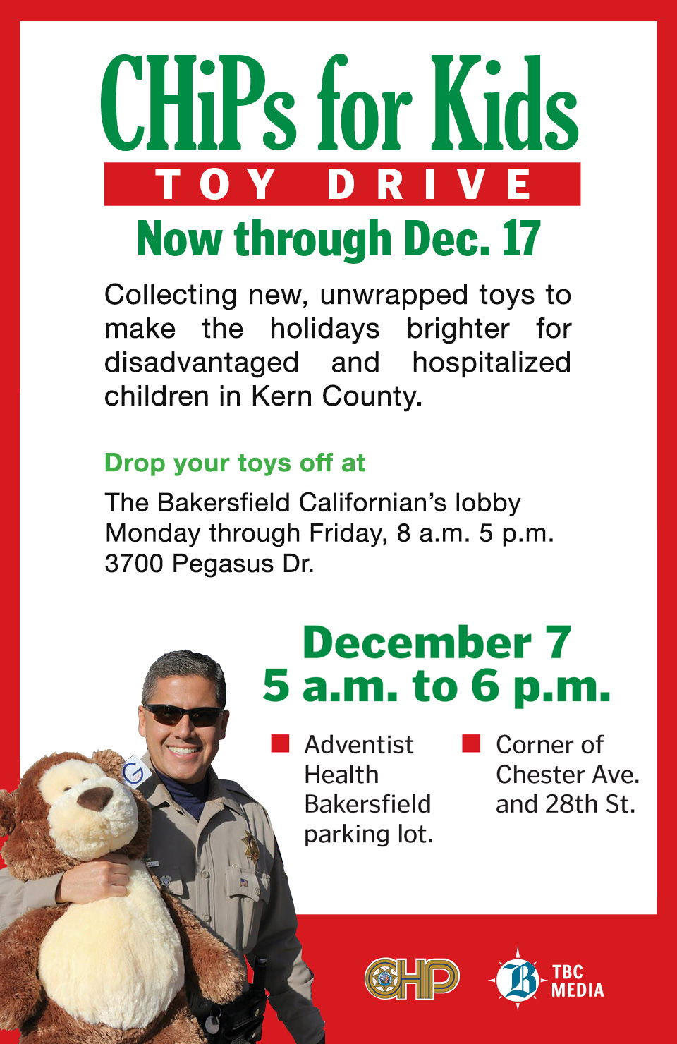 CHiPs for Kids Toy Drive